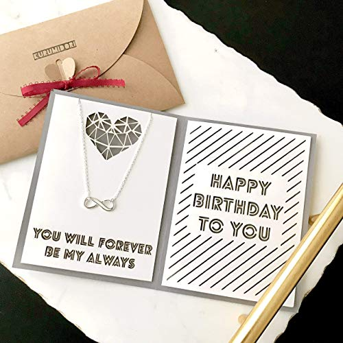 brithday card with jewelry